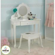 KidKraft Medium Diva Table & Stool in White at Kmart.com