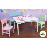Kidkraft Nantucket Table with Bench & 2 Chairs - Pastel at Kmart.com