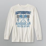 Basic Editions Boy's Long-Sleeve Graphic T-Shirt - Rock Star at Kmart.com