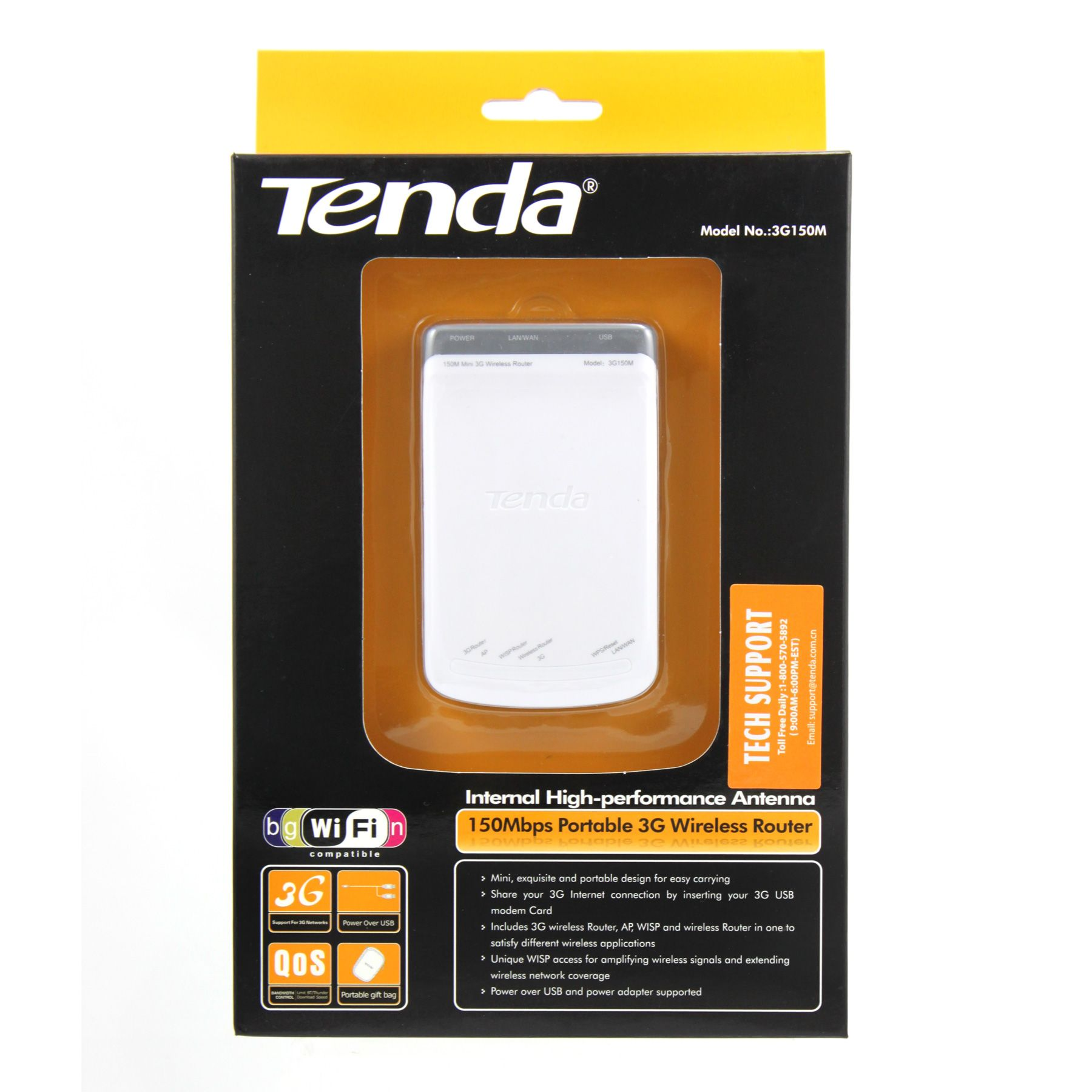 Tenda&#174 3G150M 150Mbps Portable Wireless N 3G Router