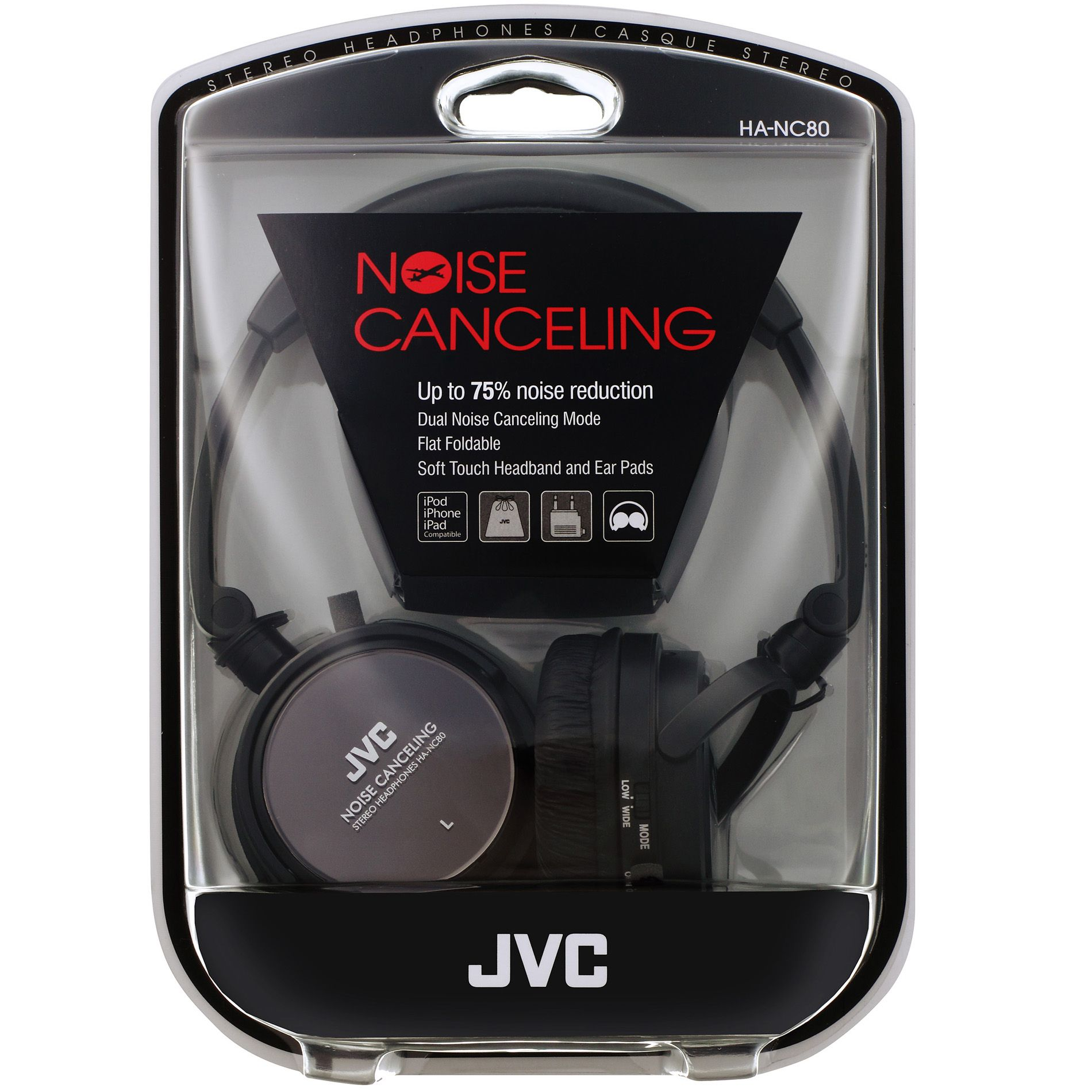 JVC  On Ear Noise Canceling Headphone