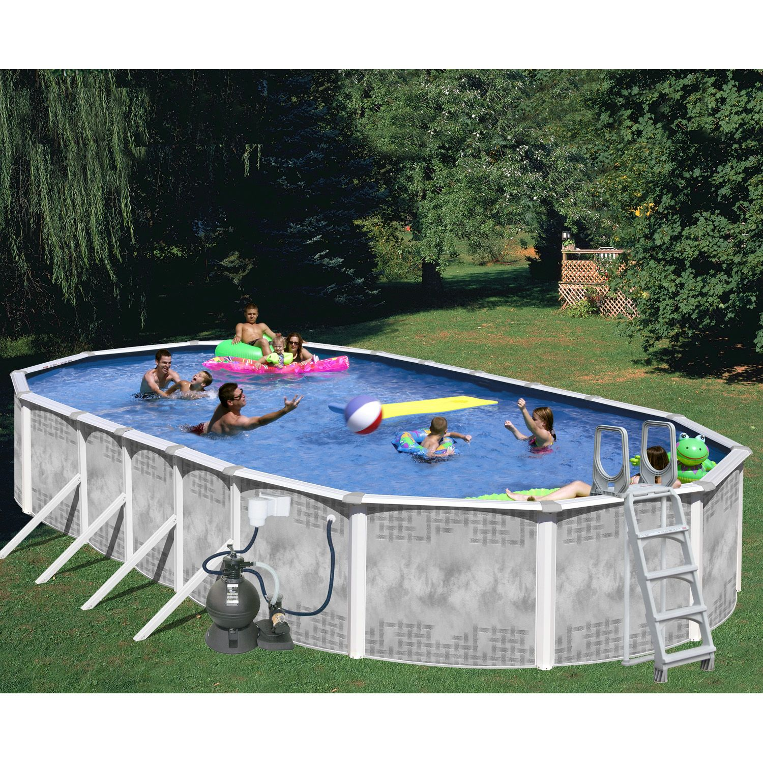 45ft x 18ft x 52in Heritage Diamond Oval Pool