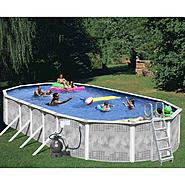 33ft x 18ft x 52in  Heritage Diamond Oval Pool Package at Sears.com