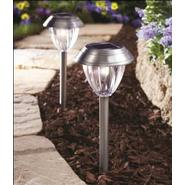 Coleman Cable WILMONT SILVER SOLAR PATH LIGHT at Kmart.com