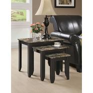 Monarch Specialties Cappuccino / Marble Top 3pcs Nesting Table Set at Kmart.com