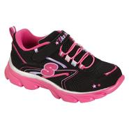 Skechers Girl's Lite Waves Skybeam Athletic Shoe - Black/Pink at Sears.com