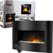 Warm House Black Arched Glass Electric Fireplace at Kmart.com