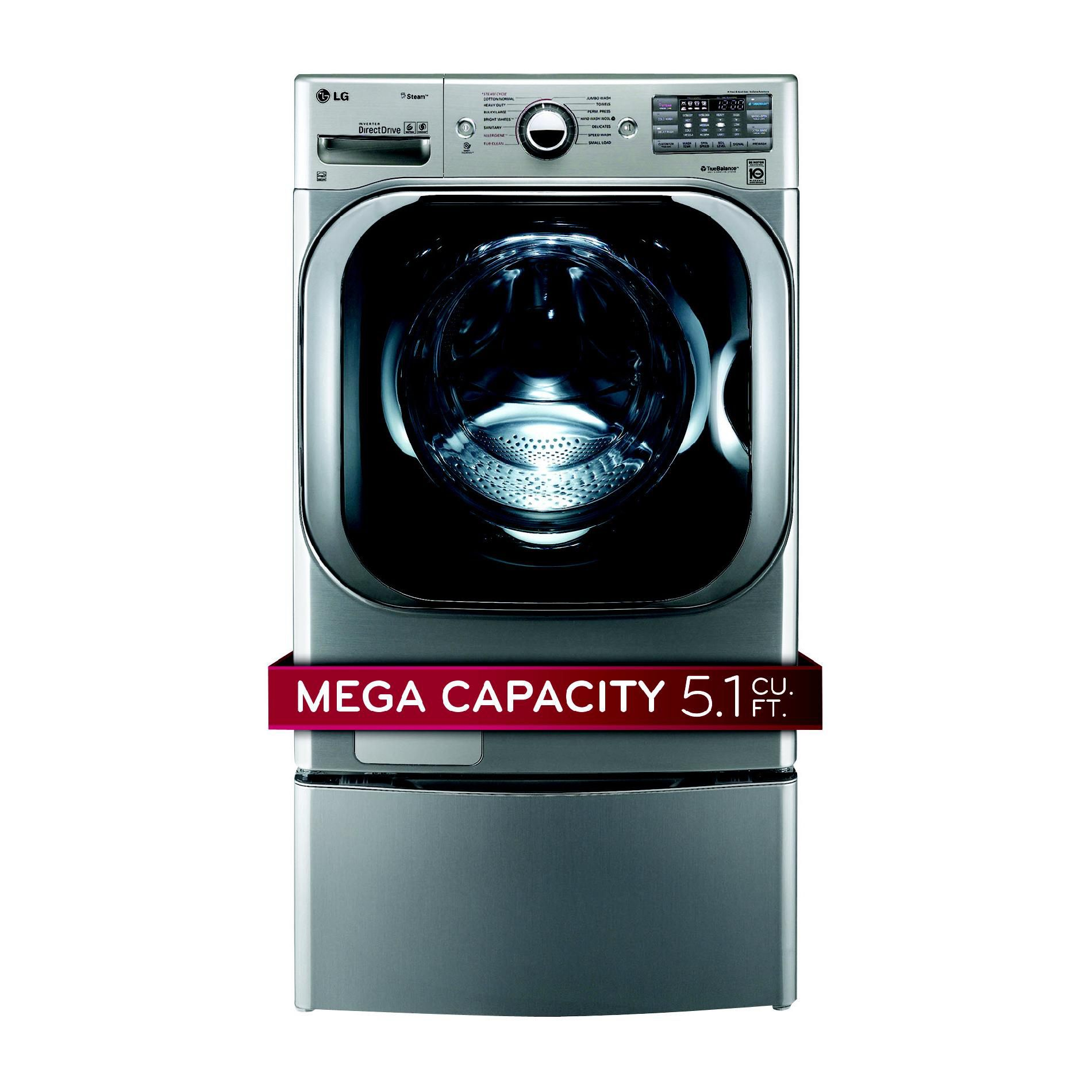 5.1 cu. ft. Mega-Capacity Steam Front-Load Washer - Graphite Steel