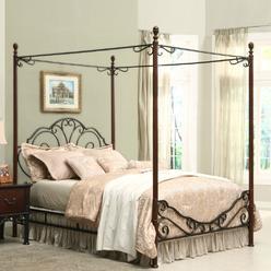 Oxford Creek Bronze Metal Queen Size Canopy Bed at Kmart.com