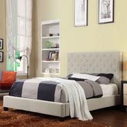 Oxford Creek Queen-size Tufted Tan Velvet Platform Bed at Kmart.com