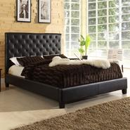 Oxford Creek Queen-size Tufted Dark Brown Faux Leather Platform Bed at Kmart.com