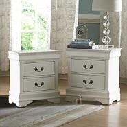 Oxford Creek White 2 drawers Nightstand (set of 2) at Sears.com