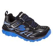 Skechers Boy's Mighty Flex Athletic Shoe - Black/Blue at Sears.com