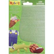 "Makin's Clay Texture Sheets 7""X5-1/2"" 4/Pkg-Set B (Screen/Stripe/Check/Dot) at Kmart.com"