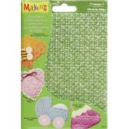 "Makin's Clay Texture Sheets 7""X5-1/2"" 4/Pkg-Set C (Honeycomb/Eyelet/Weave/Lace) at Kmart.com"