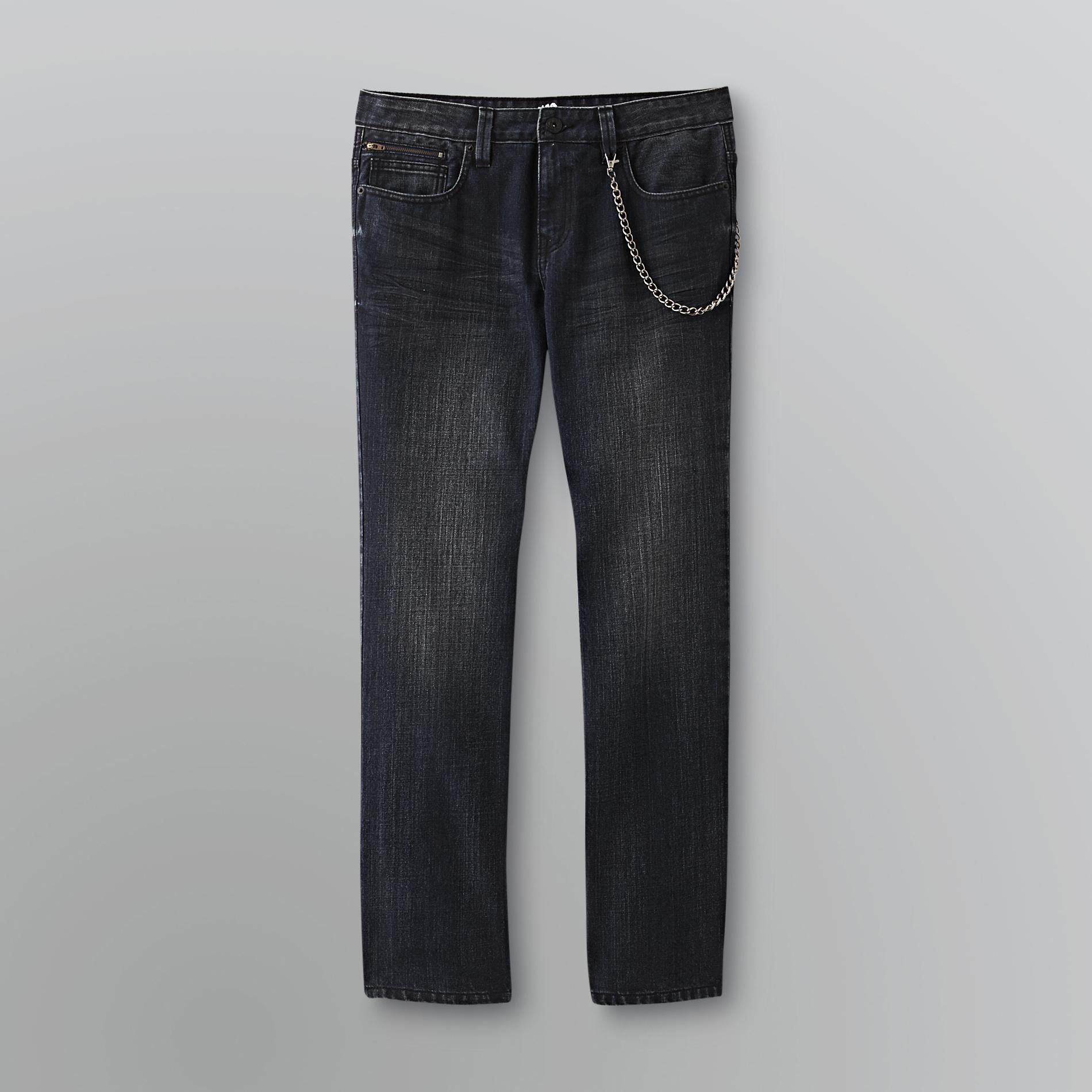 NSS Men's Edgy Slim-Straight Jeans