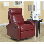 Monarch Specialties Red Bonded Leather Swivel Rocker Recliner at Sears.com