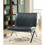 Monarch Specialties Black Leather-Look / Chrome Metal Modern Accent Chair at Kmart.com