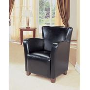 Monarch Specialties Black Leather-Look Club Chair at Kmart.com