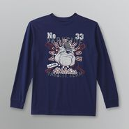 Basic Editions Boy's Long Sleeve Graphic T-Shirt - Bulldog at Kmart.com