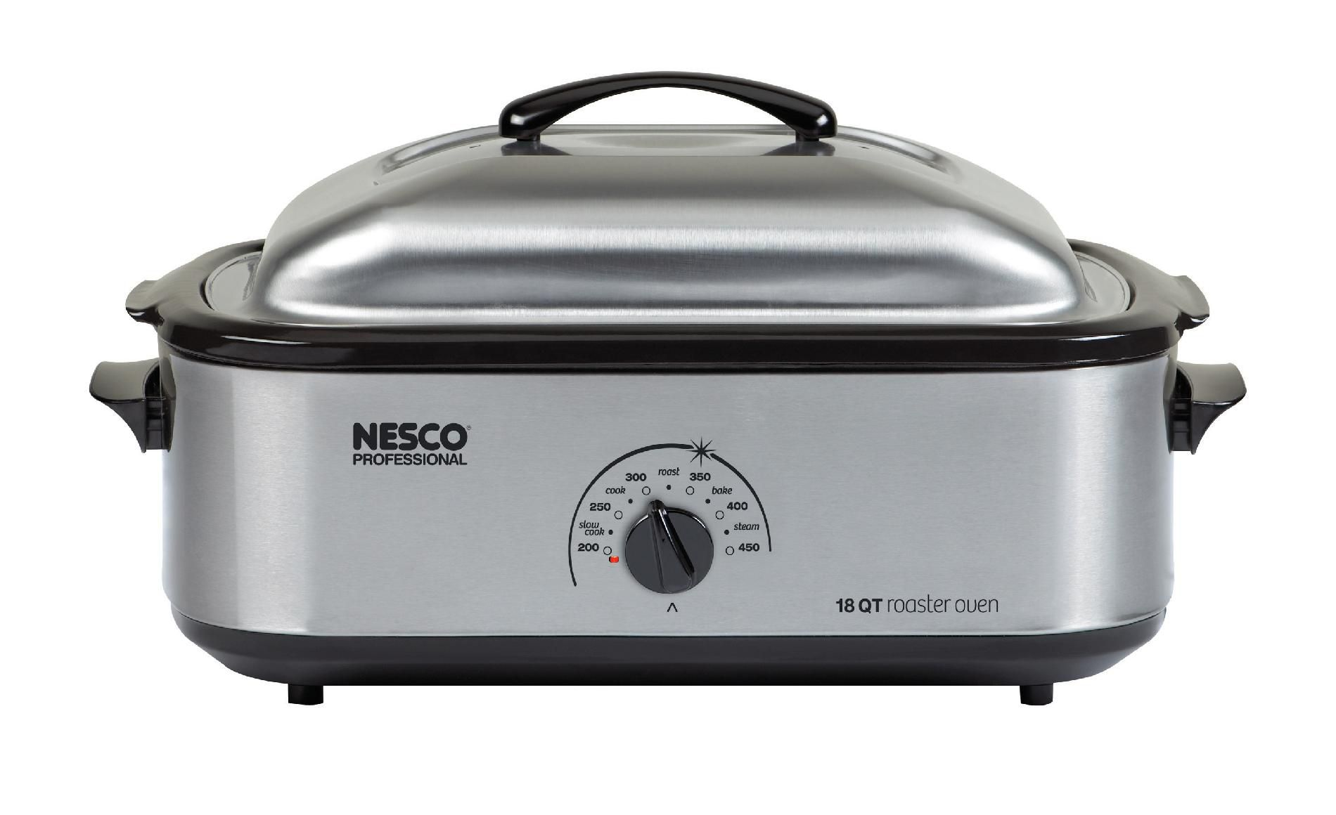 Nesco Professional 18 Qt. Stainless Steel Roaster with Non-Stick Cookwell