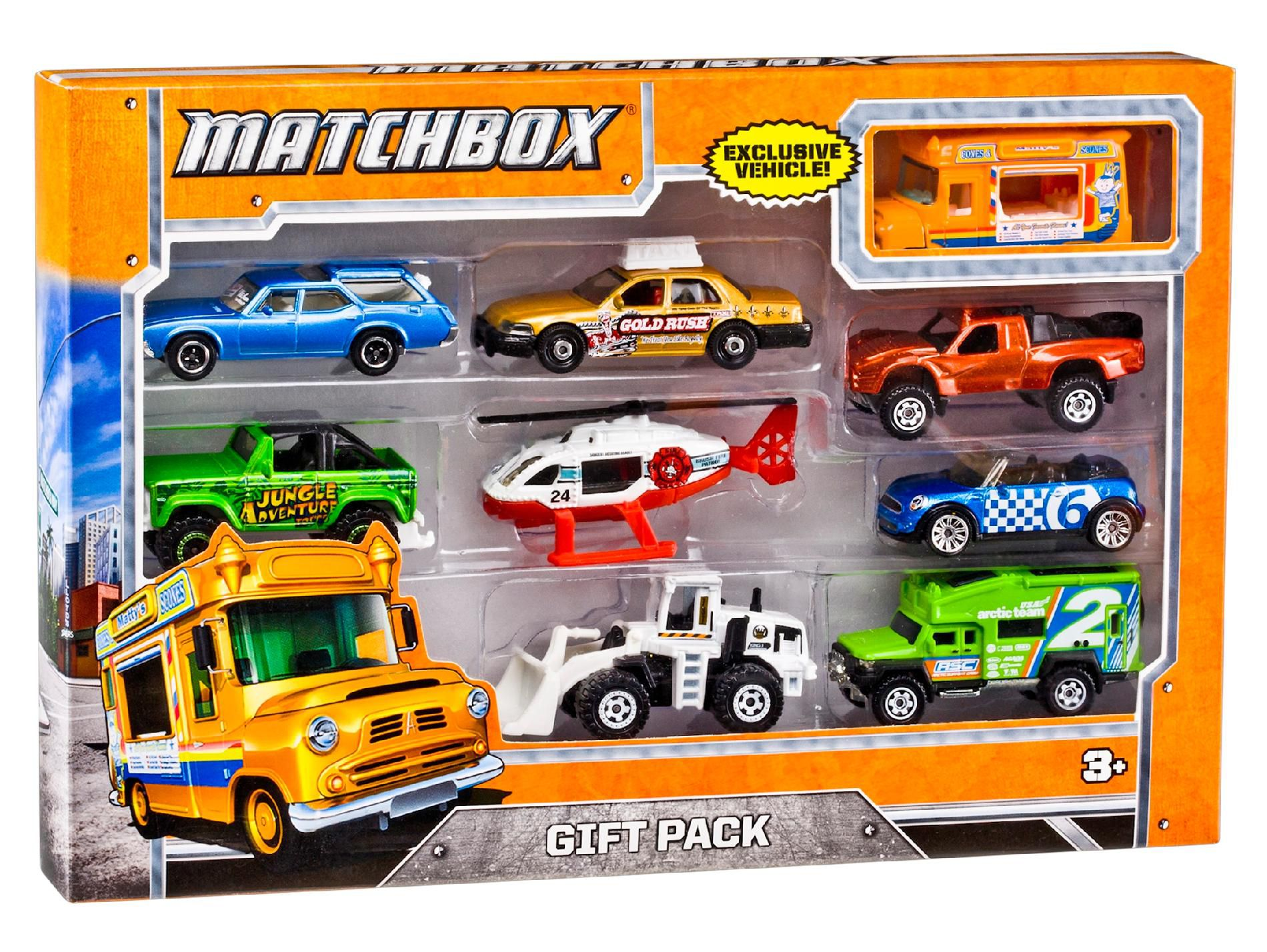 9 VEHICLE GIFT PACK - STYLES AND COLORS MAY