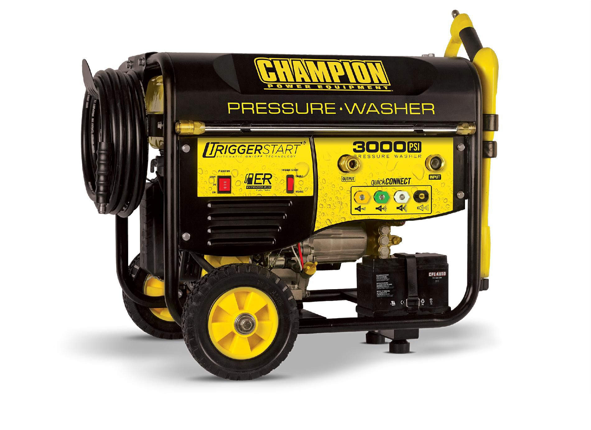 76522 Champion 3000 PSI Trigger Start Portable Pressure Washer CARB