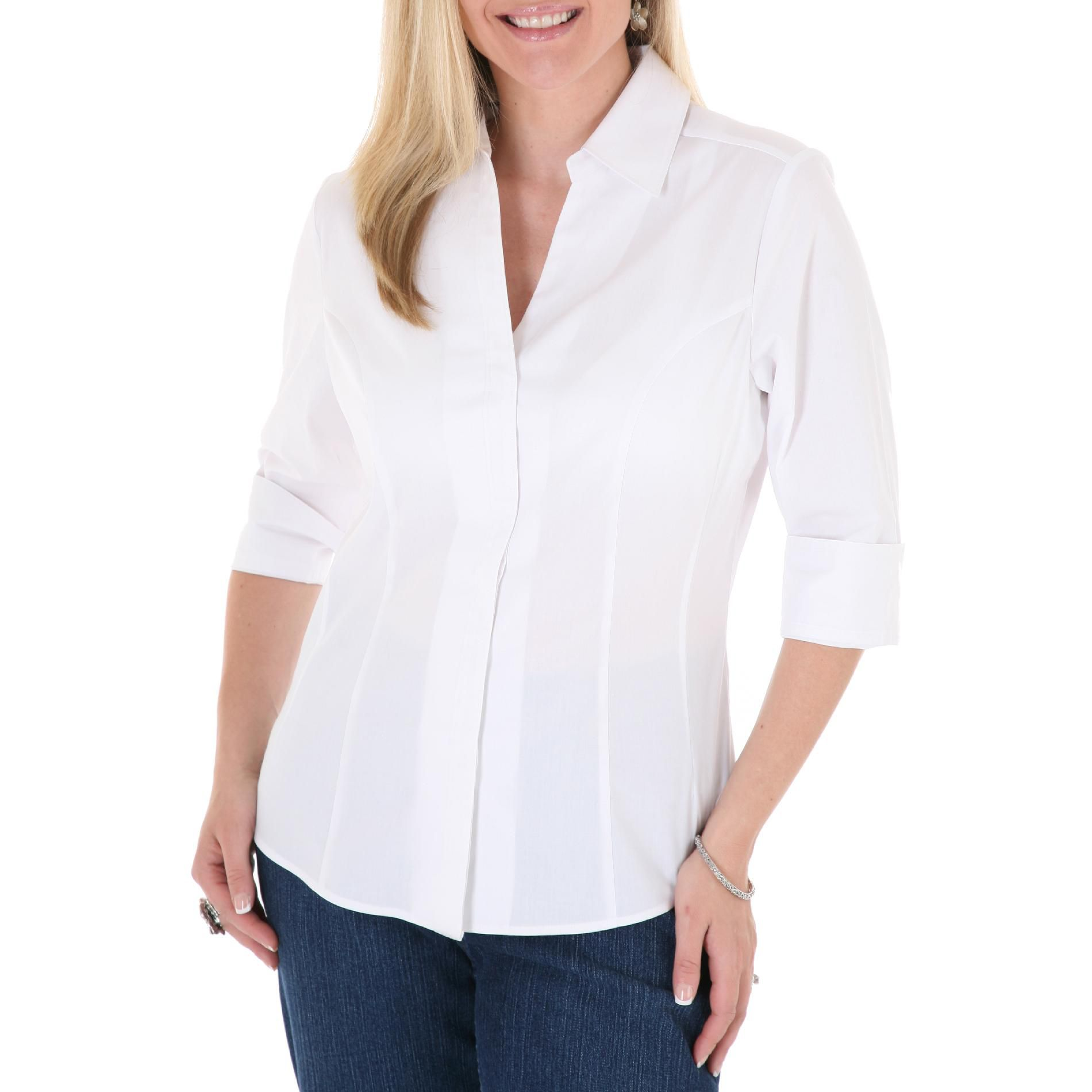 Rider Women's Top 'Allison' ¾ Sleeve Artic White at Kmart.com