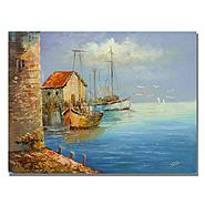 "Trademark Fine Art 26x32 inches Rio ""Fishing Wharf"" at Kmart.com"