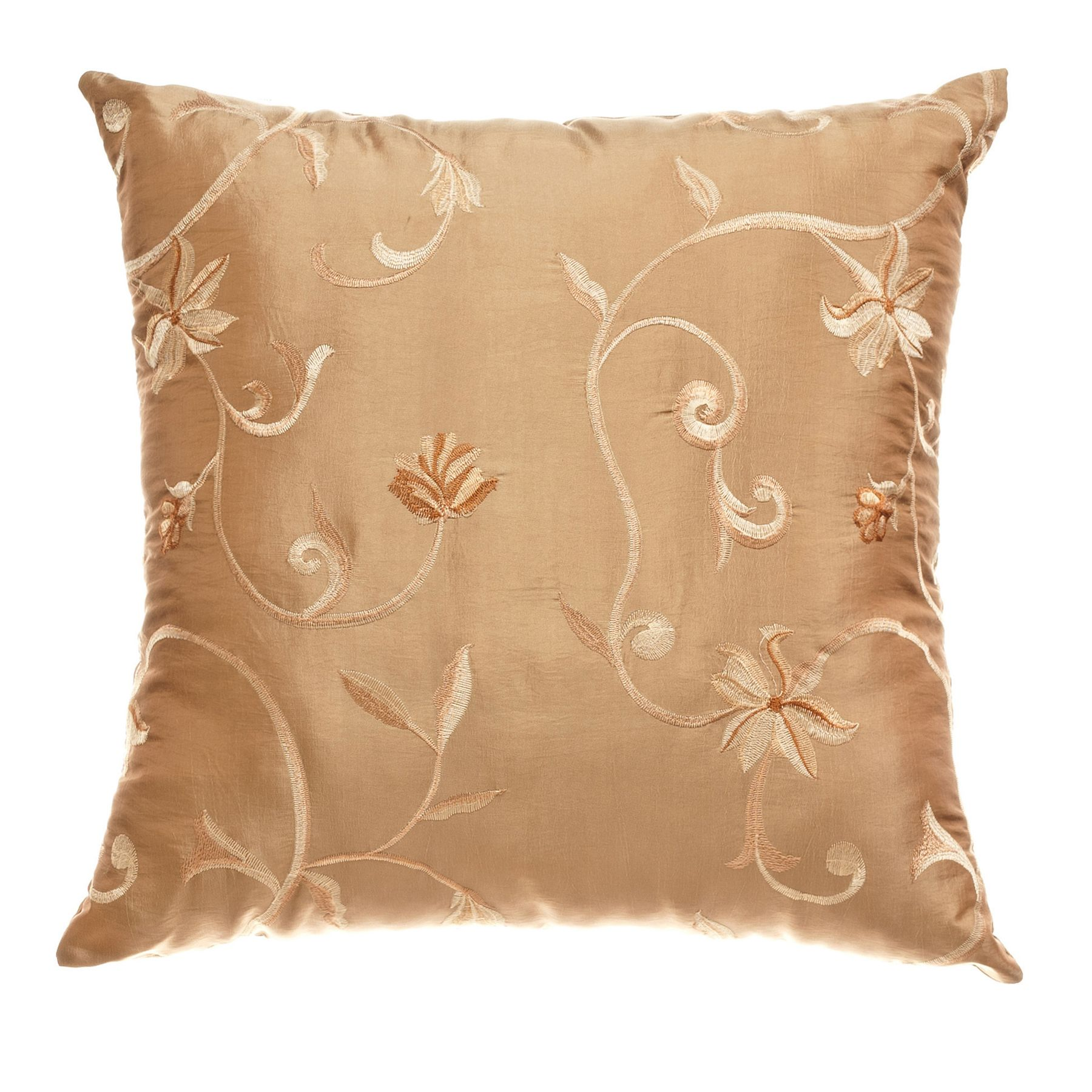 Decorative Pillows Kmart : Softline Home Fashions, Inc Cleopatra Brushed Gold 18x18 Decorative Pillow