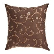 Softline Home Fashions, Inc Stiletto Scroll Chocolate 18x18 Decorative Pillow at Kmart.com