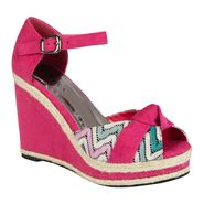 Lady Godiva Women's Caley Wedge Sandal - Pink at Kmart.com