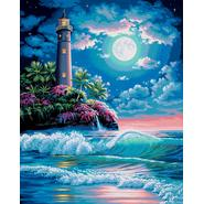 "Paint By Number Kit 16""X20""-Lighthouse In The Moonlight at Sears.com"