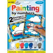 "My First Paint By Number Kit 8-3/4""X11-3/8"" 2/Pkg-Airplane & Helicopter at Kmart.com"