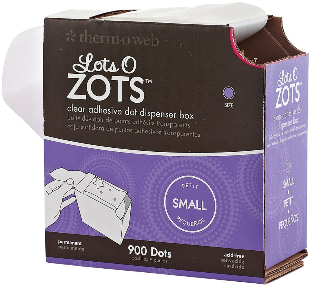 Zots Lots Of Dots Clear Adhesive Dots-Small: 900 Dots, 3/16