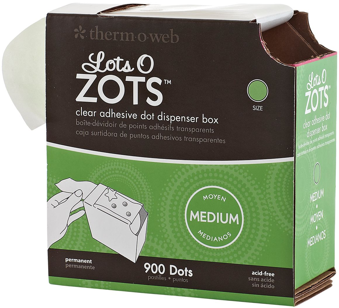 Zots Lots Of Dots Clear Adhesive Dots-Medium: 900 Dots, 3/8