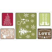 Sizzix Textured Impressions Embossing Folders 5/Pkg-Sending Christmas Love at Kmart.com