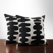 Oxford Creek Black/ Light Grey 18-inch Decorative Pillows (Set of 2) at Sears.com