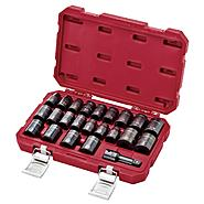 "Craftsman 23pc Laser Impact Standard Socket Accessory Set, 1/2"" Drive, Inch/Metric at Sears.com"