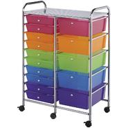 "Double Storage Cart W/15 Drawers 25.5""X38""X15.5"" at Kmart.com"