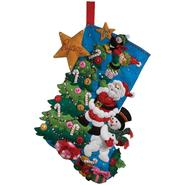 "The Finishing Touch Stocking Felt Applique Kit-18"" Long at Kmart.com"
