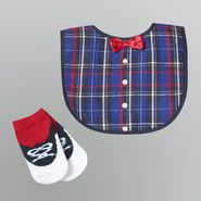 WonderKids Boy's Infant Socks 2pc Bowtie Bib and Booties at Kmart.com