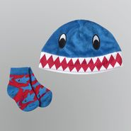 WonderKids Boy's Infant Socks 2pc Shark Hat and Booties at Kmart.com