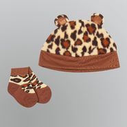 WonderKids Boy's Infant Socks 2pc Leopard Hat and Booties at Kmart.com