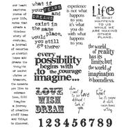 Tim Holtz Large Cling Rubber Stamp Set-Stuff 2 Say at Kmart.com