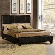 Oxford Creek Dark Brown Faux Leather Queen-size Bed at Kmart.com