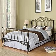 Oxford Creek Queen-size Metal Sleigh Bed at Kmart.com