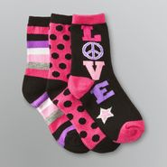 Joe Boxer Girl's Patterned Crew Socks - 3 Pairs at Sears.com
