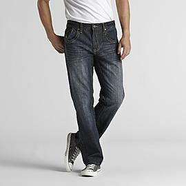 Route 66 Men's Distressed Slim Straight Jeans at Kmart.com