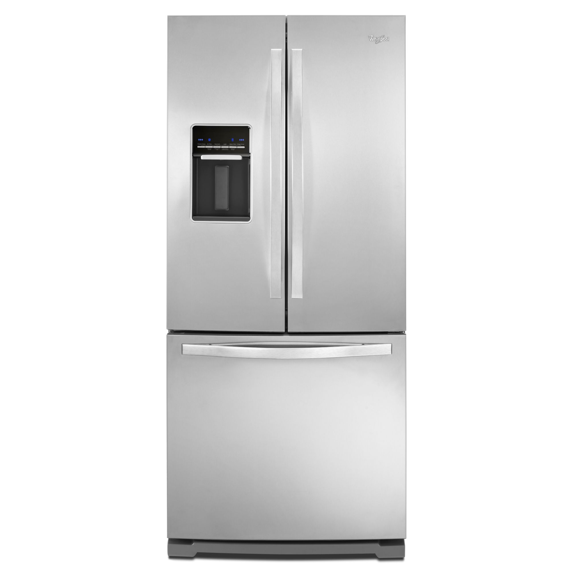 20 cu. ft. French Door Refrigerator w/ Exterior Dispenser - Stainless Steel